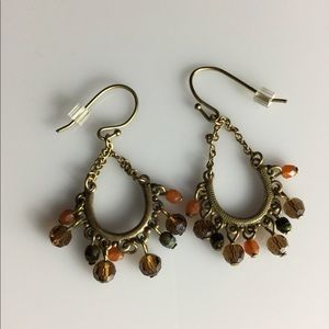 Autumn 🍂 colored drop earrings.